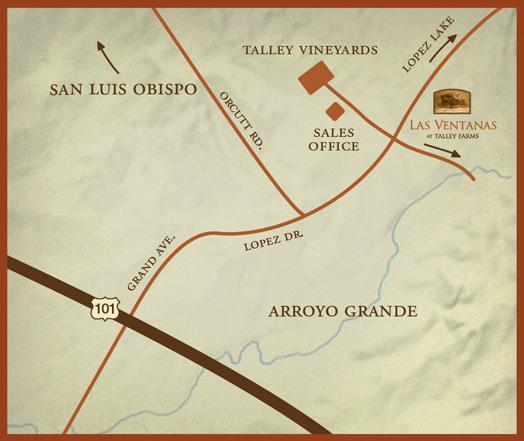 map to Las Ventanas